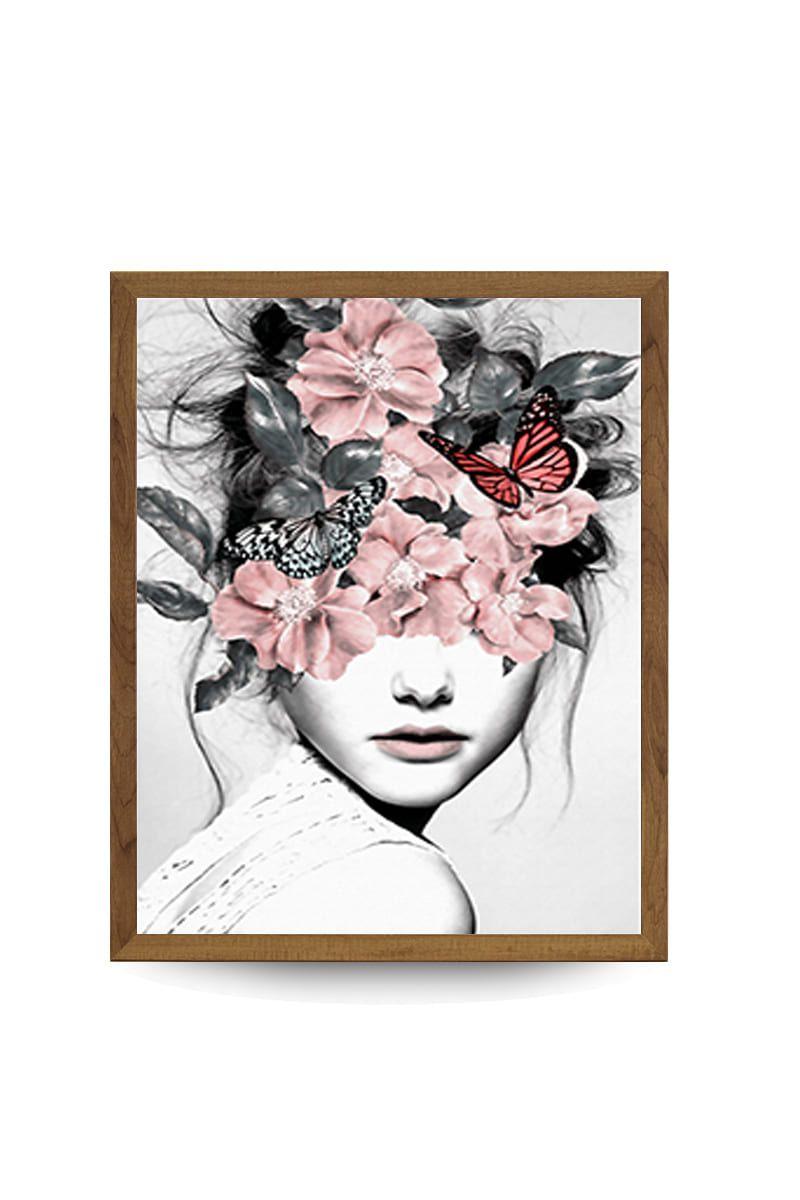Quadro Decor Feminina Japonesa Floral 3