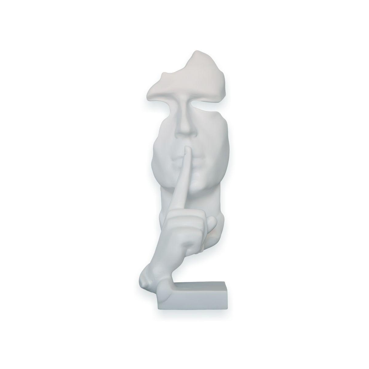 Busto Face do Silêncio Branco By Akz Home