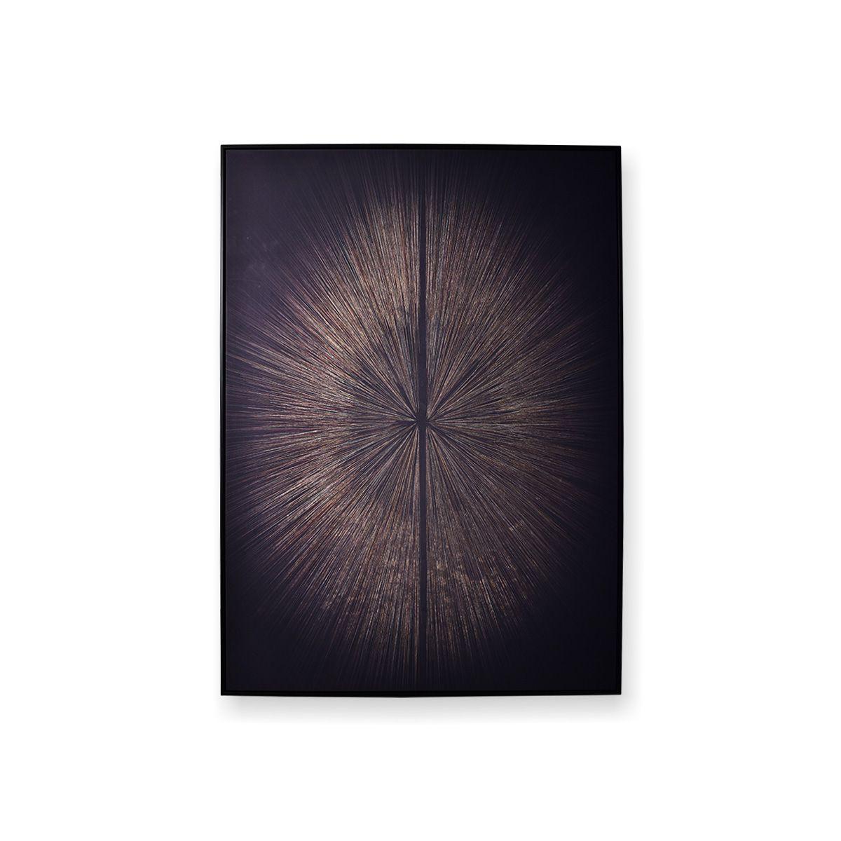 Quadro Decor Espiral Obscuro Dourado