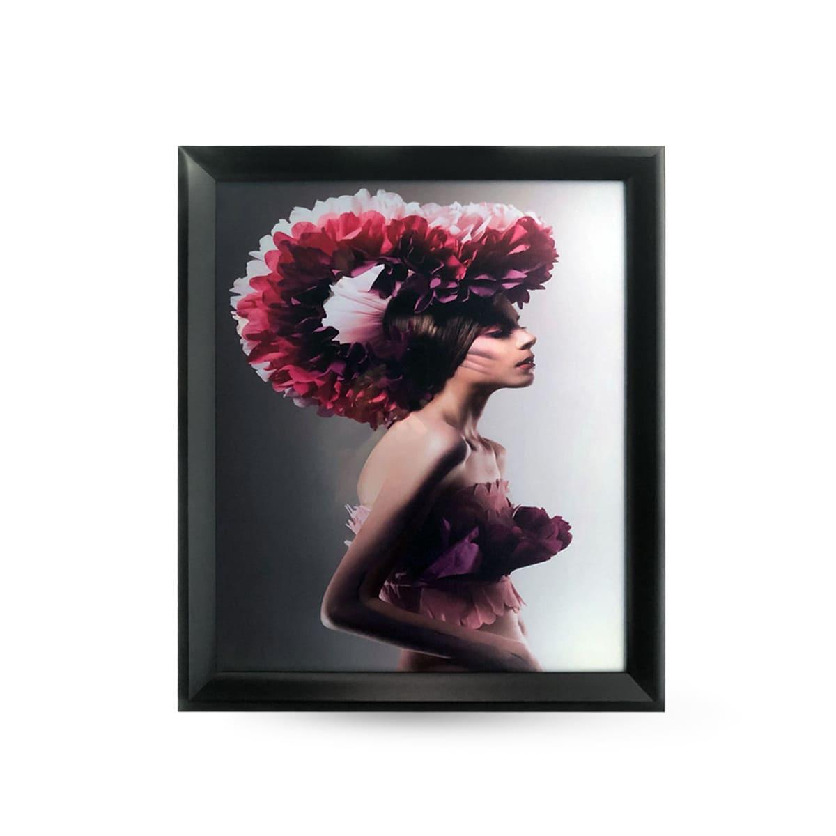 Quadro Decor Feminina Flores Violetas 1