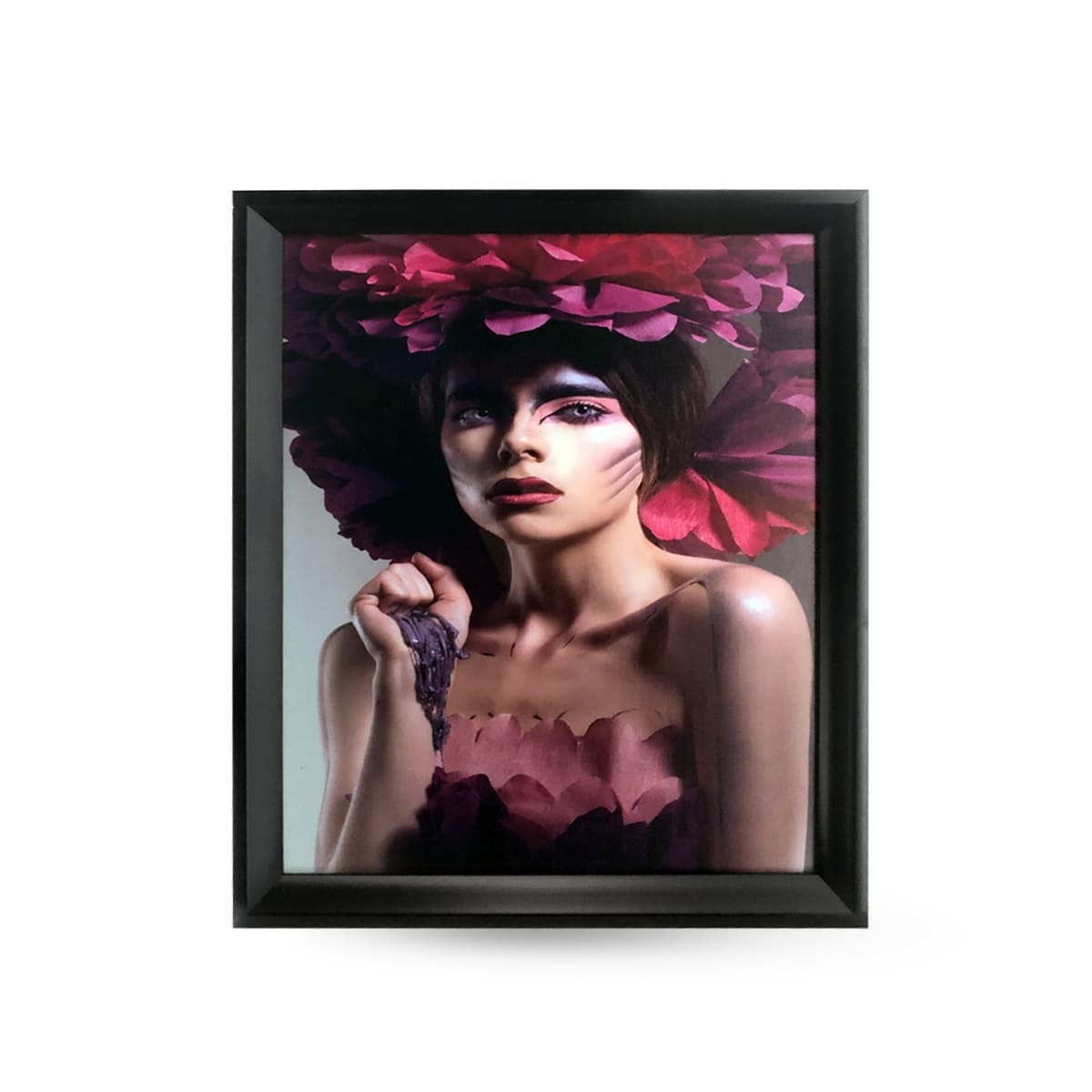 Quadro Decor Feminina Flores Violetas 2