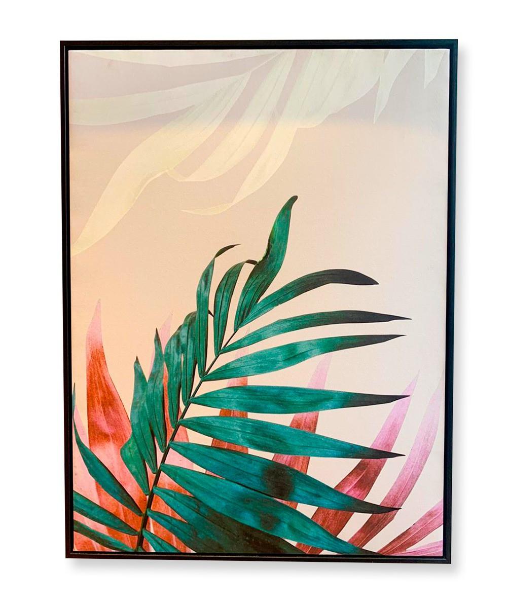 Quadro Coleção Plantas Abstratas Coloridas III