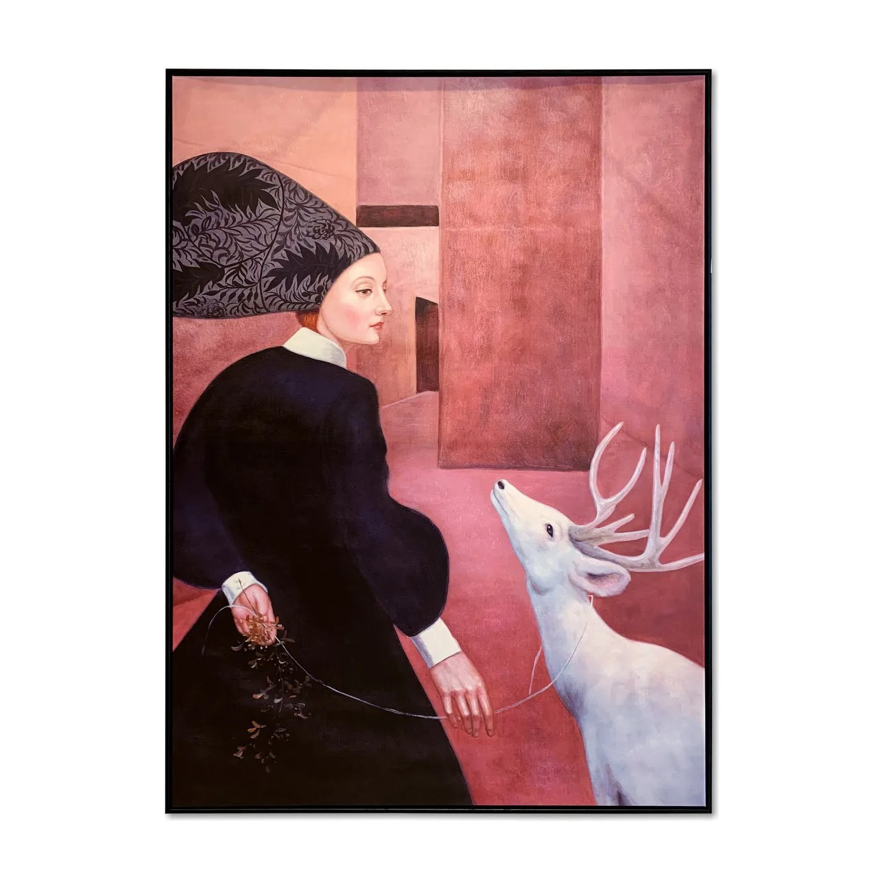 Quadro Decor A mulher e o Cervo Branco