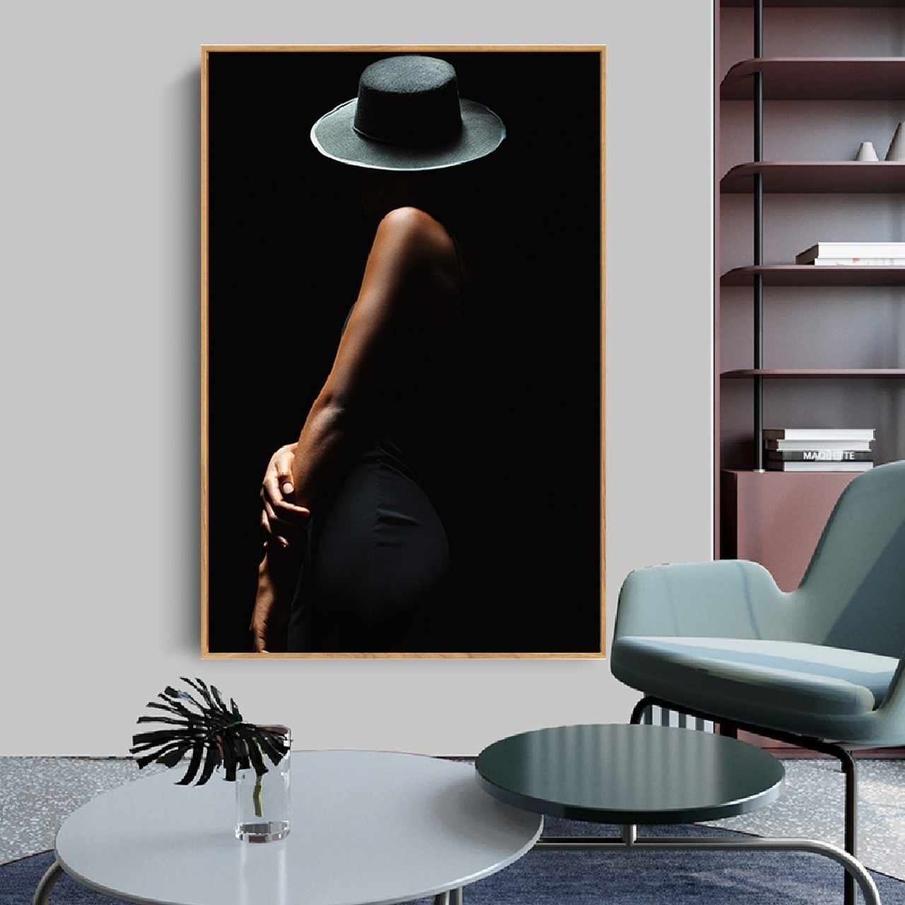 Quadro Decor A Mulher e o Chapéu preto