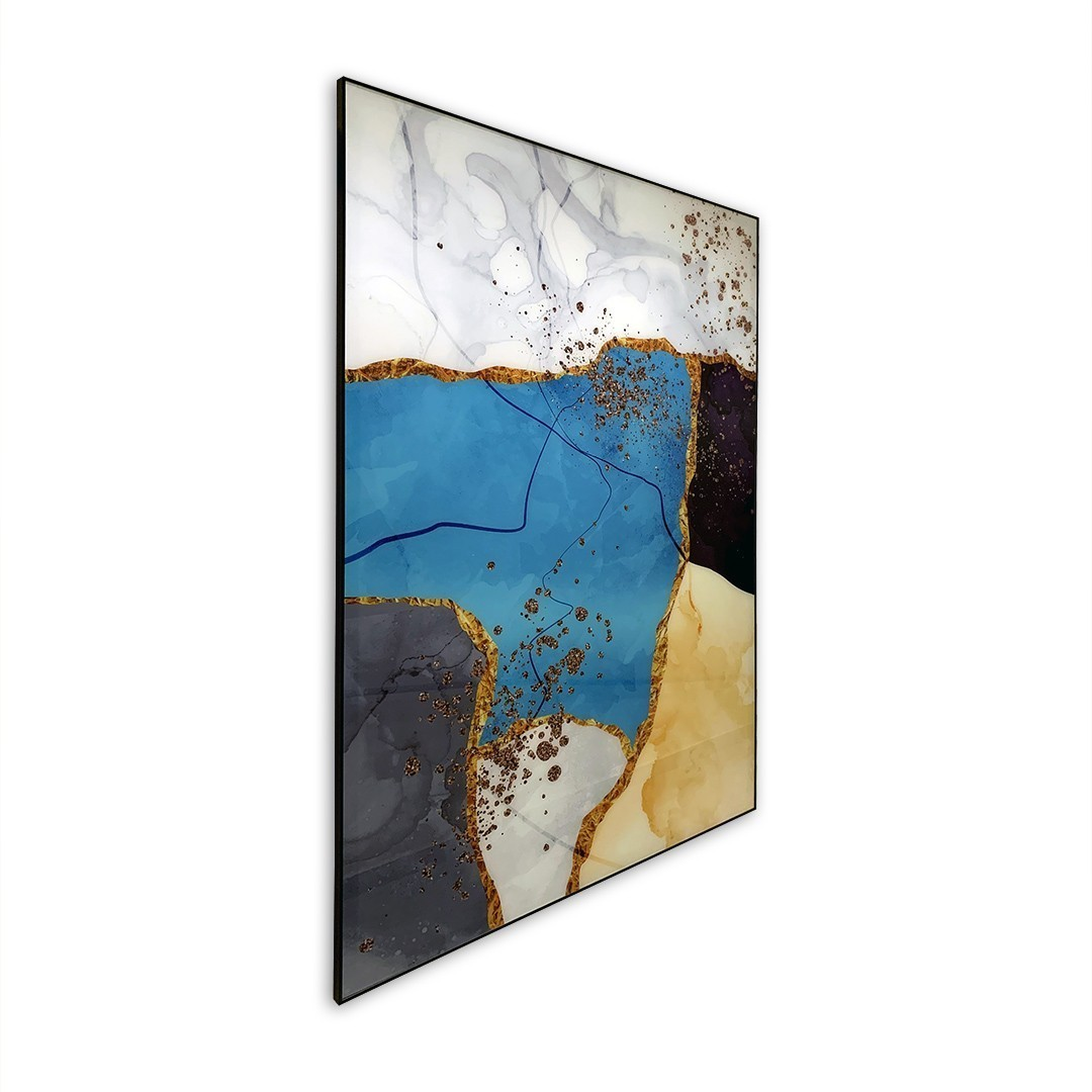 Quadro Decor Abstrato Azul Complementar 2