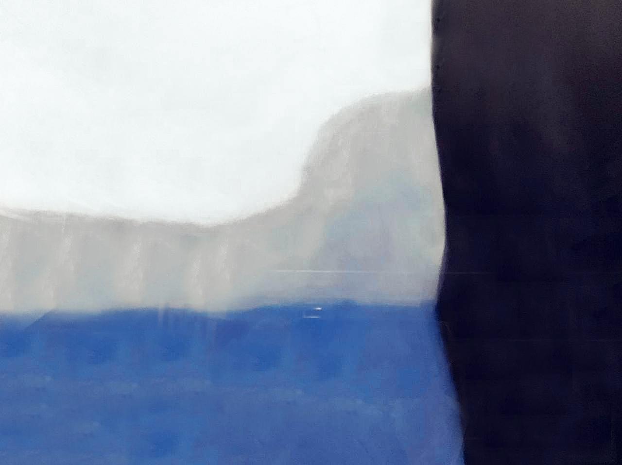 Quadro Decor Abstrato Azul e Branco 1