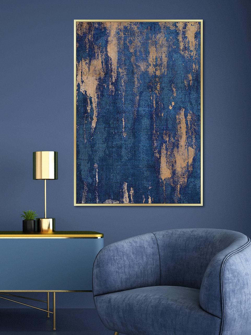 Quadro Decor Abstrato Contraste Azul