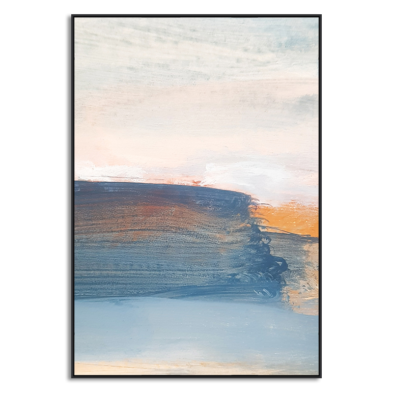 Quadro Decor Abstrato Pinceladas Azuis