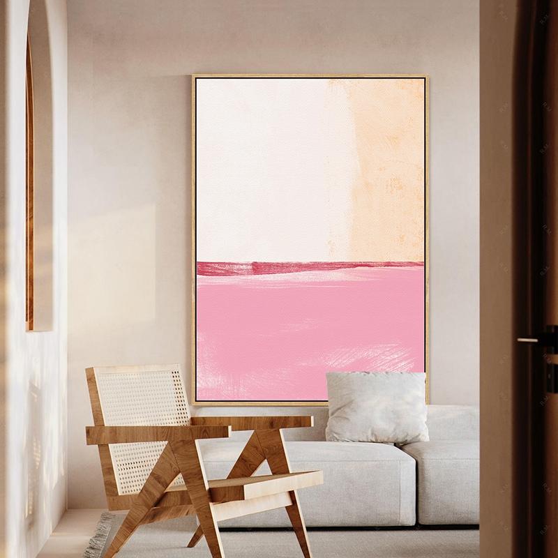 Quadro Decor Abstrato tons de rosa 1