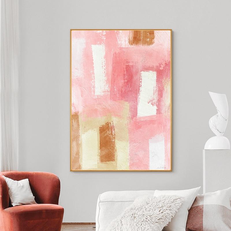 Quadro Decor Abstrato tons de rosa 2