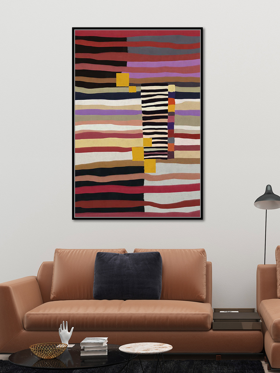 Quadro Decor Abstrato Vibrante Linear