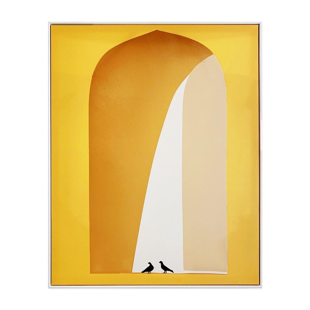 Quadro Decor Arcos em Amarelo