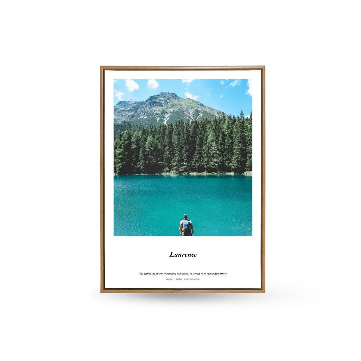 Quadro Decor As Montanhas e o Lago Azul 2