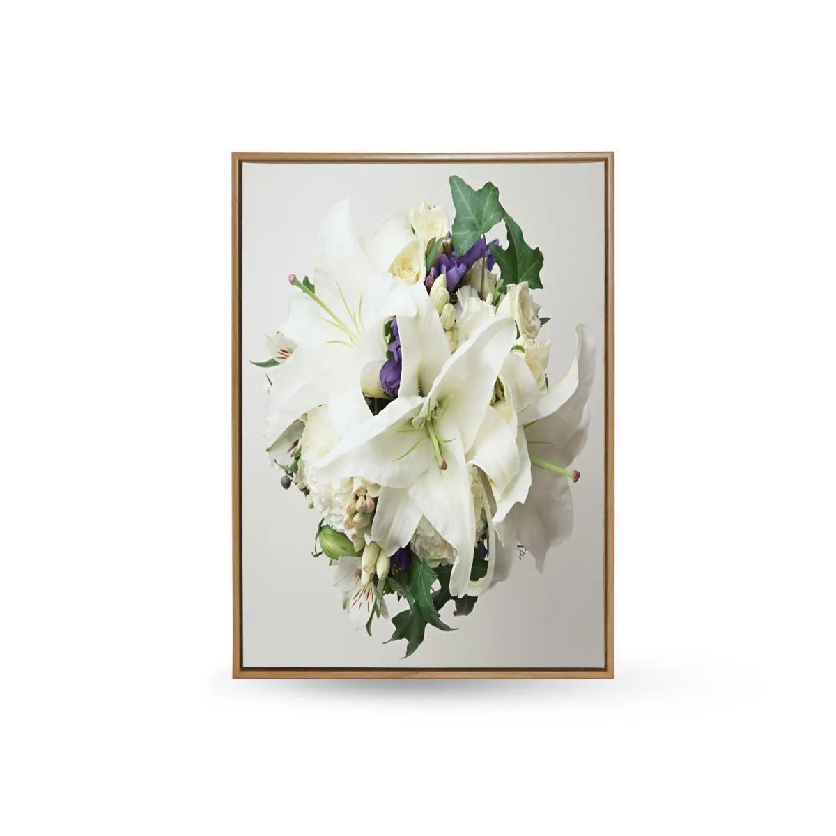 Quadro Decor Buquet Copo De Leite Branco