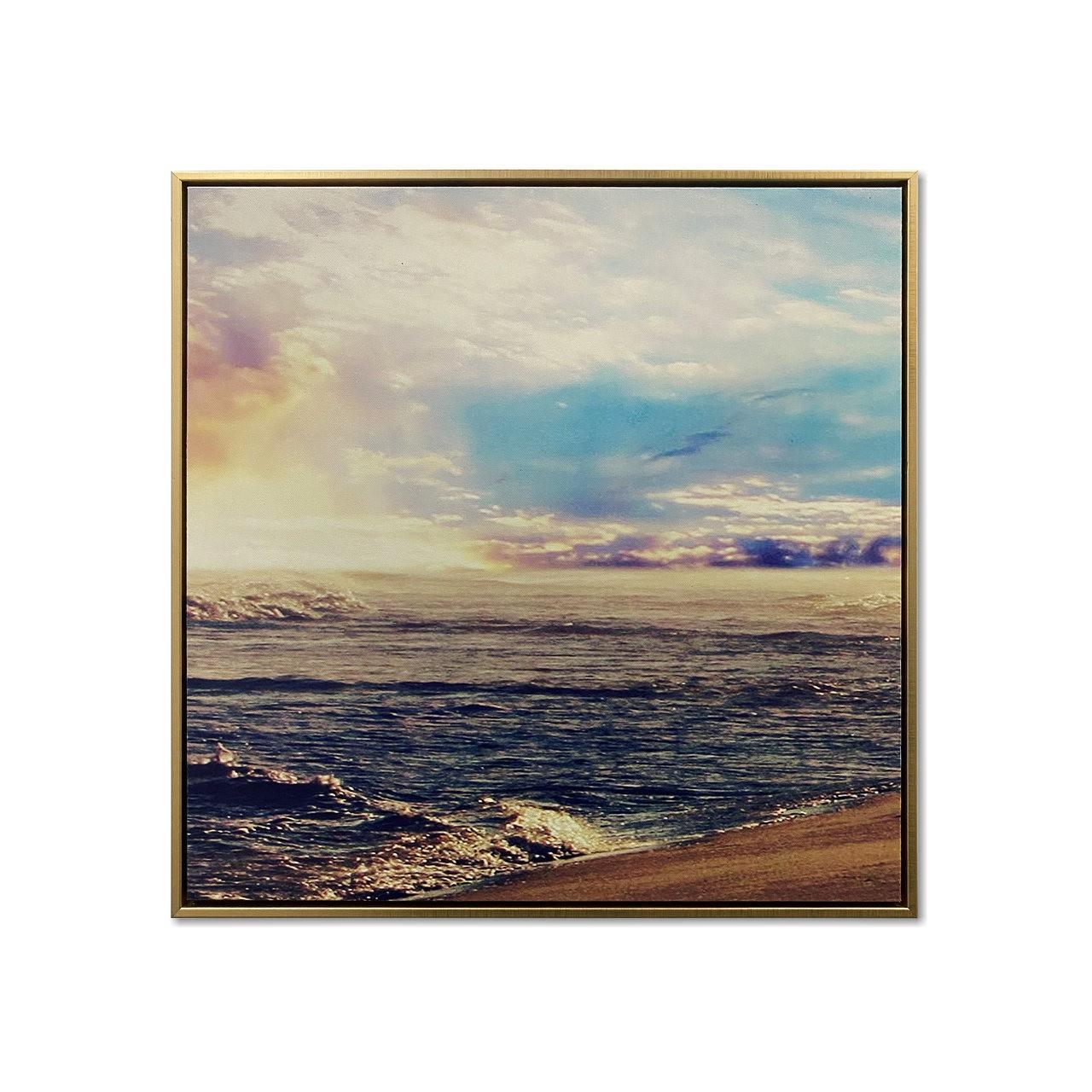 Quadro Decor Caminhada ao Por do Sol na Praia 01