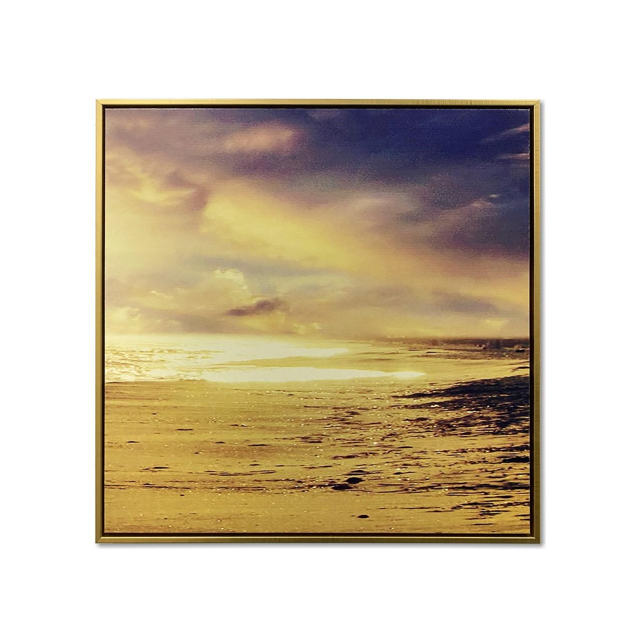Quadro Decor Caminhada ao Por do Sol na Praia 03