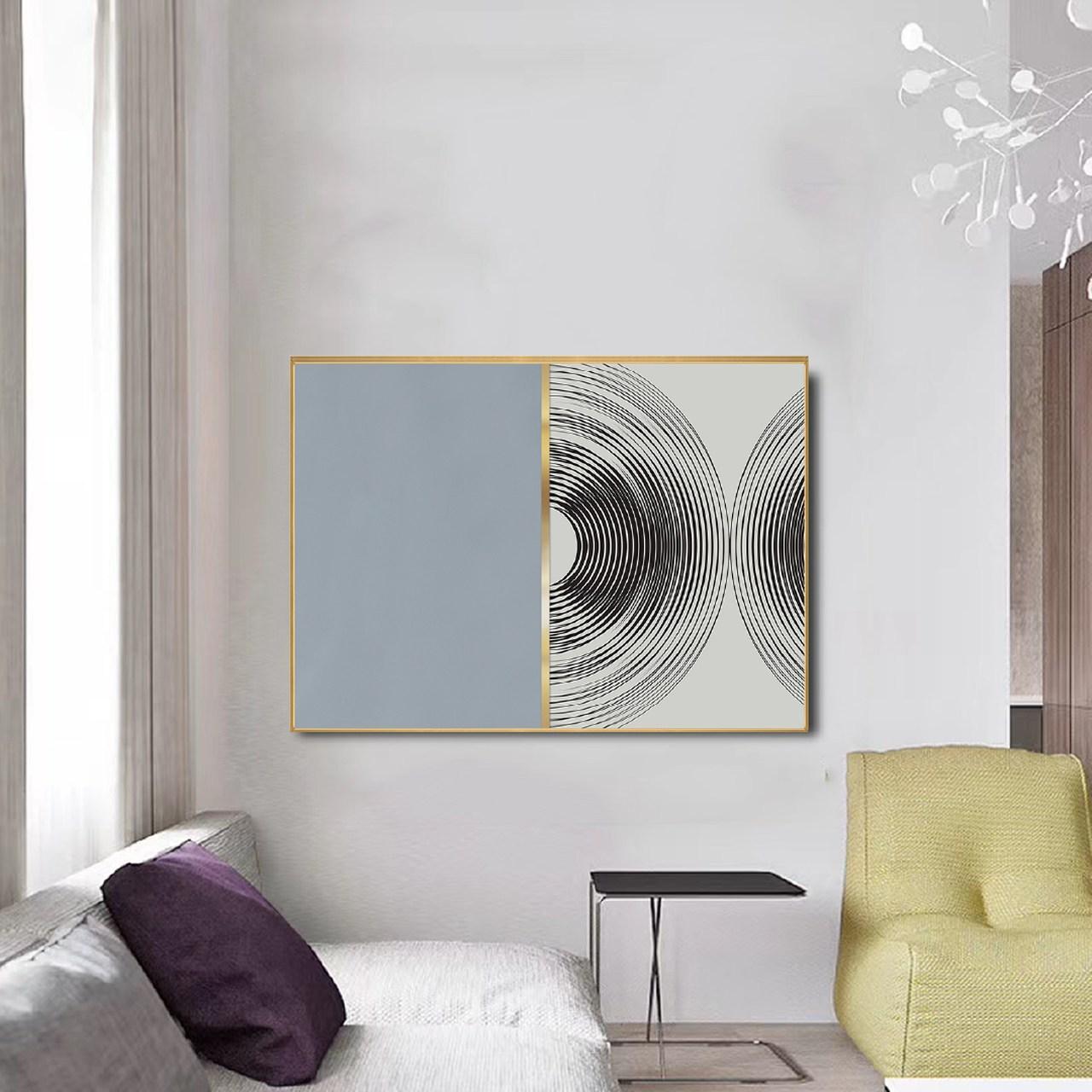 Quadro Decor Colagem em Geometria Azul Elegance
