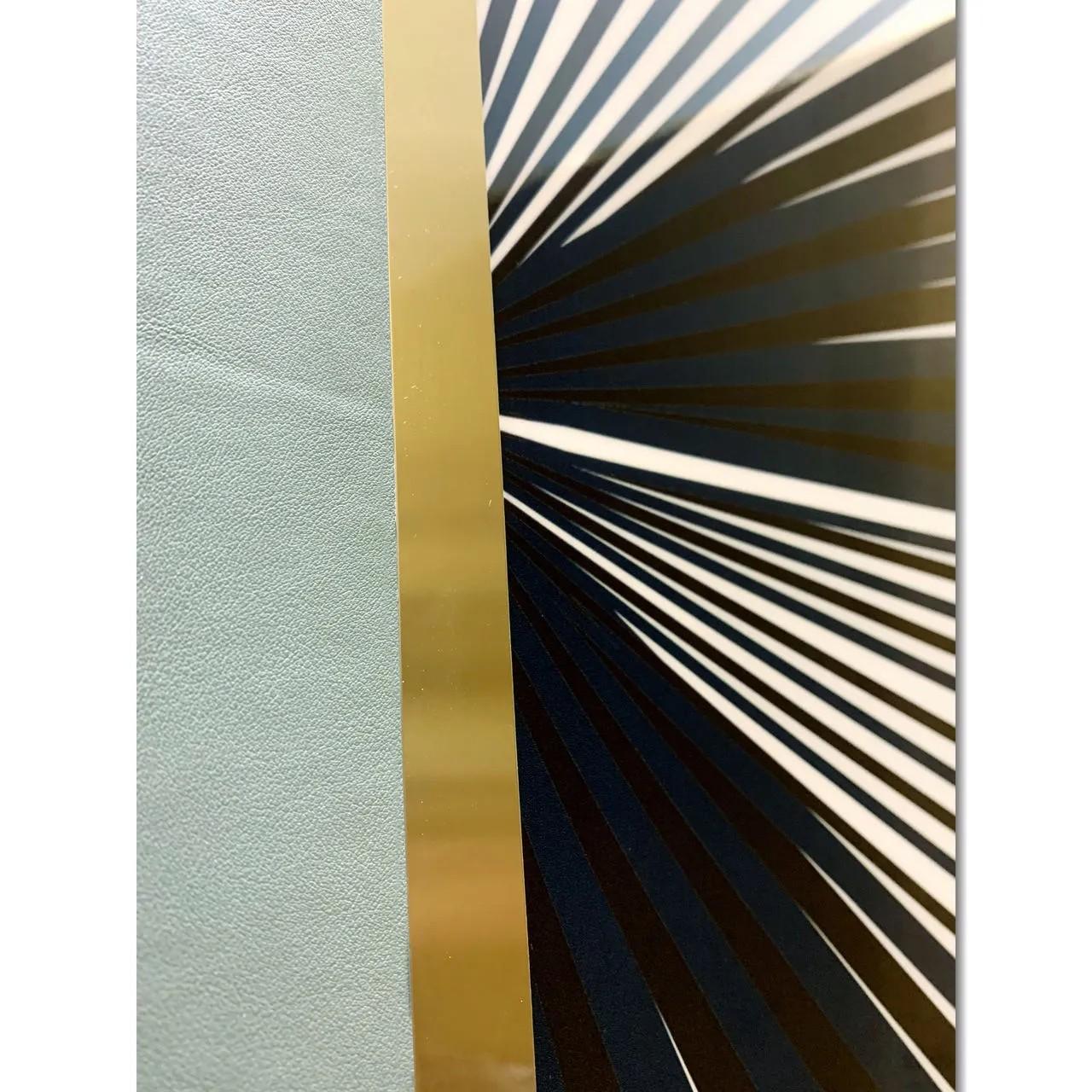 Quadro Decor Colagem em Geometria Verde
