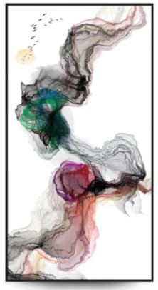Quadro Decor Coleção Abstrato Tons Esfumaçados 2