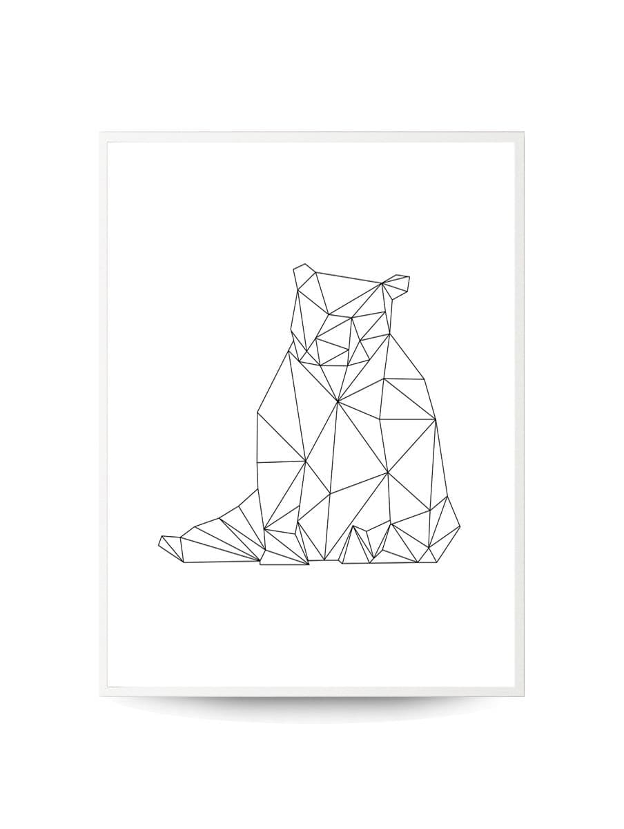 Quadro Decor Coleção Gráfico Urso