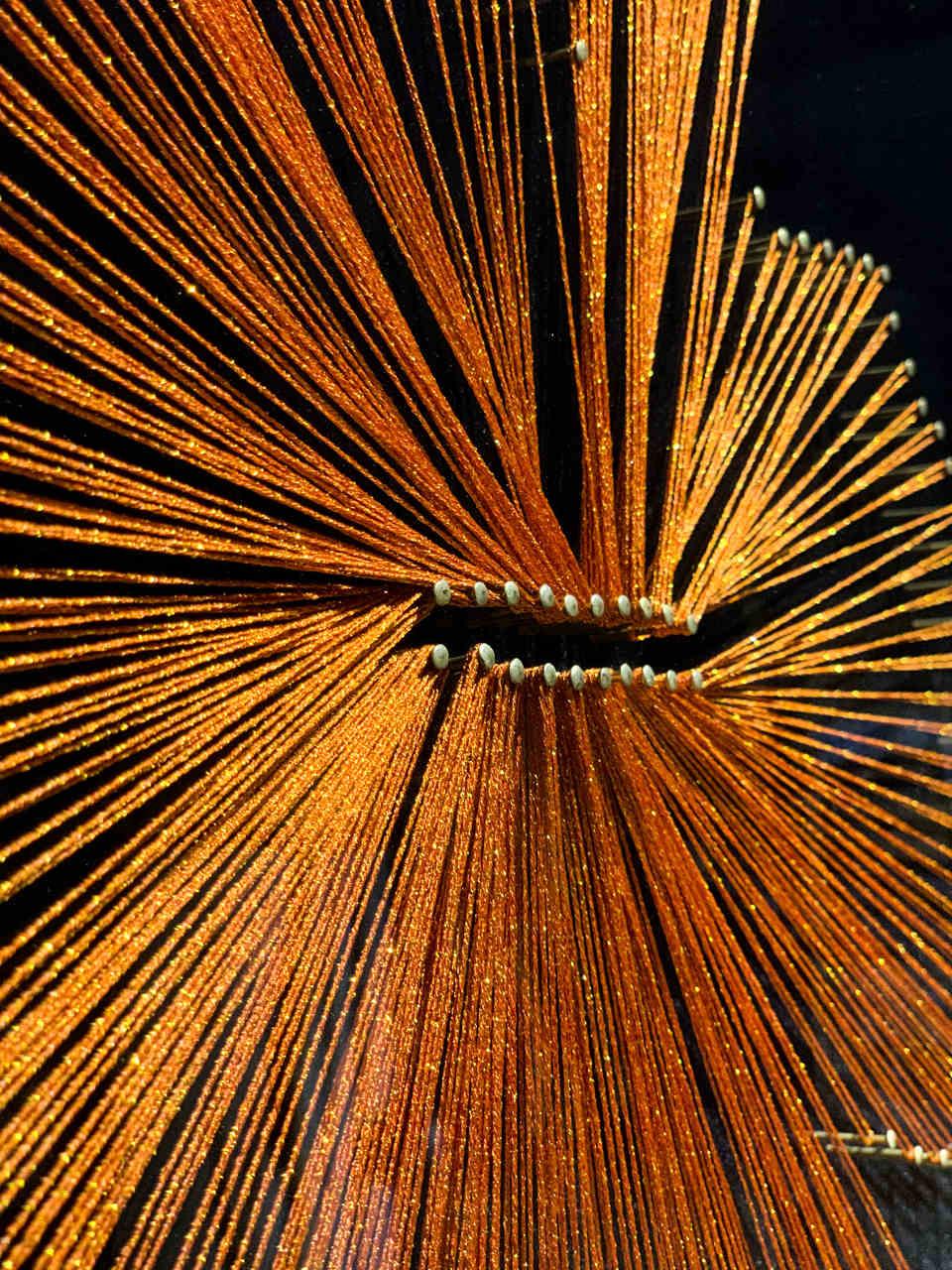 Quadro Decor Cristal em Linhas Laranja