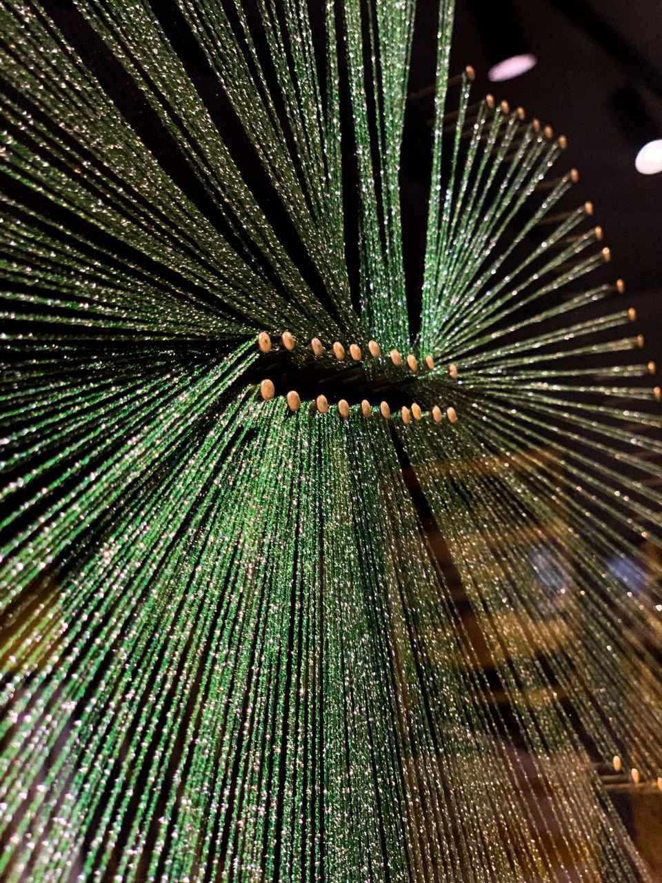 Quadro Decor Cristal em Linhas Verde