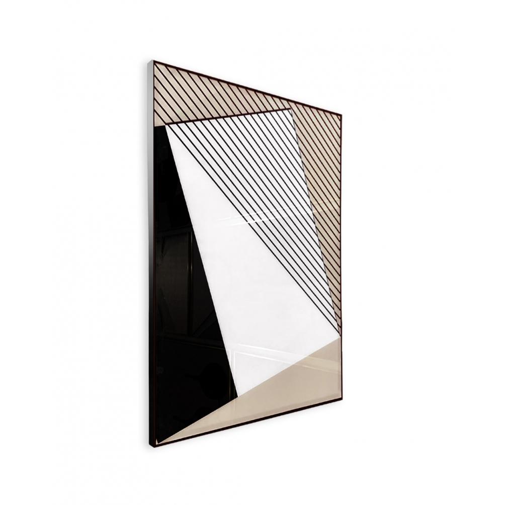 Quadro Decor Geometria em Preto e Branco 2