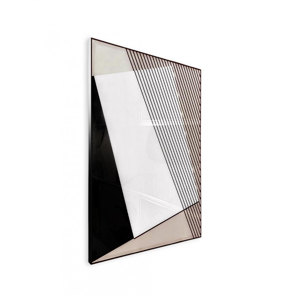 Quadro Decor Geometria em Preto e Branco 3