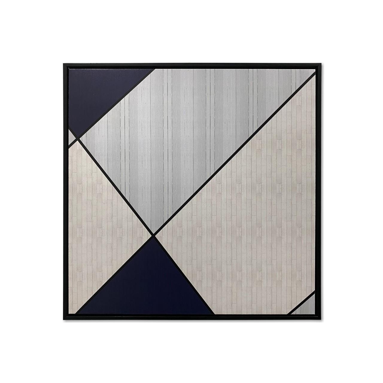 Quadro Decor Geométrico em Tons de Azul