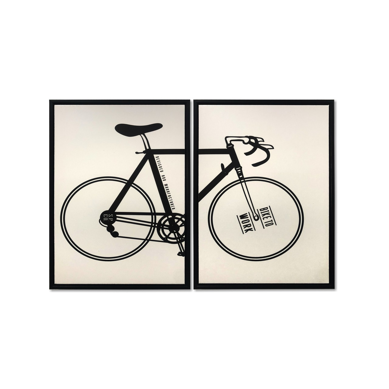 Quadro Decor Kit A bicicleta Desconstruida