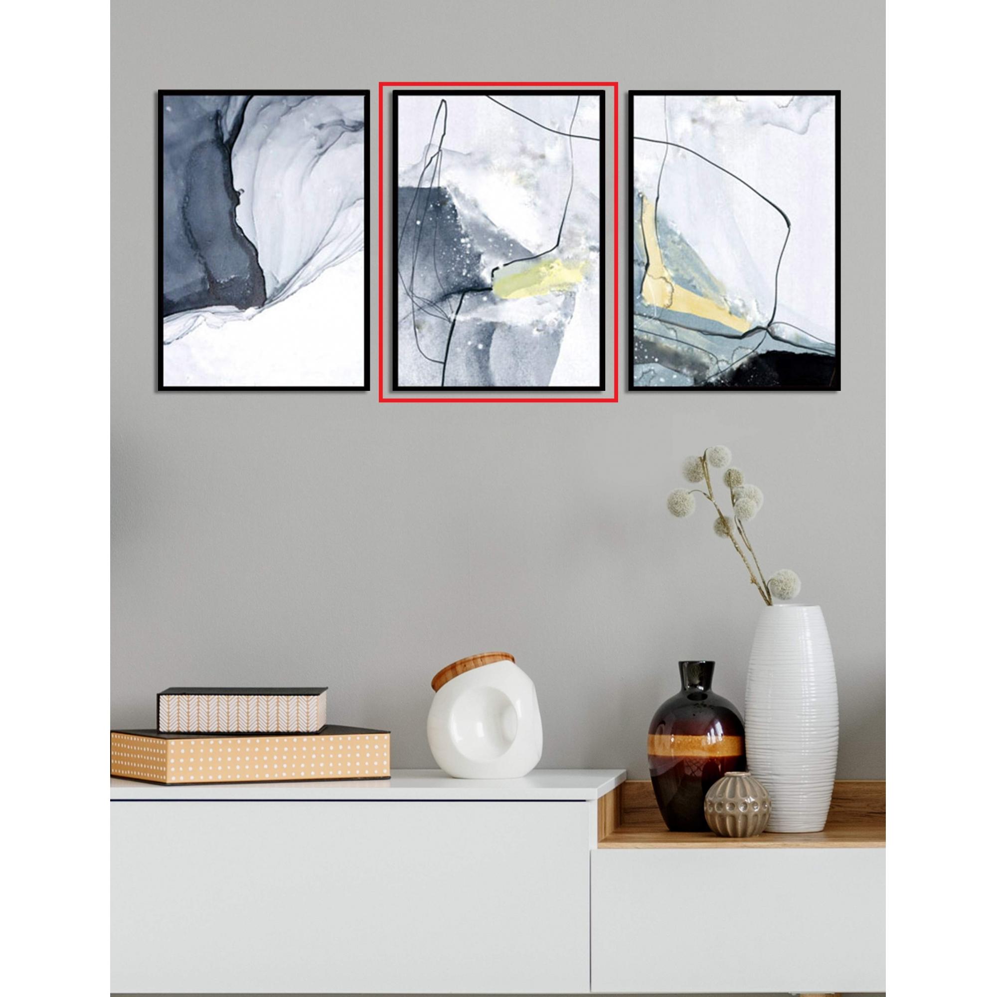 Quadro Decor Kit Abstrato Carrara B
