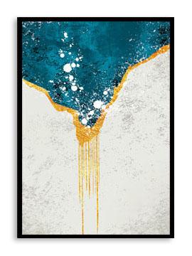 Quadro Decor Kit Abstrato Mar sobre Neve B