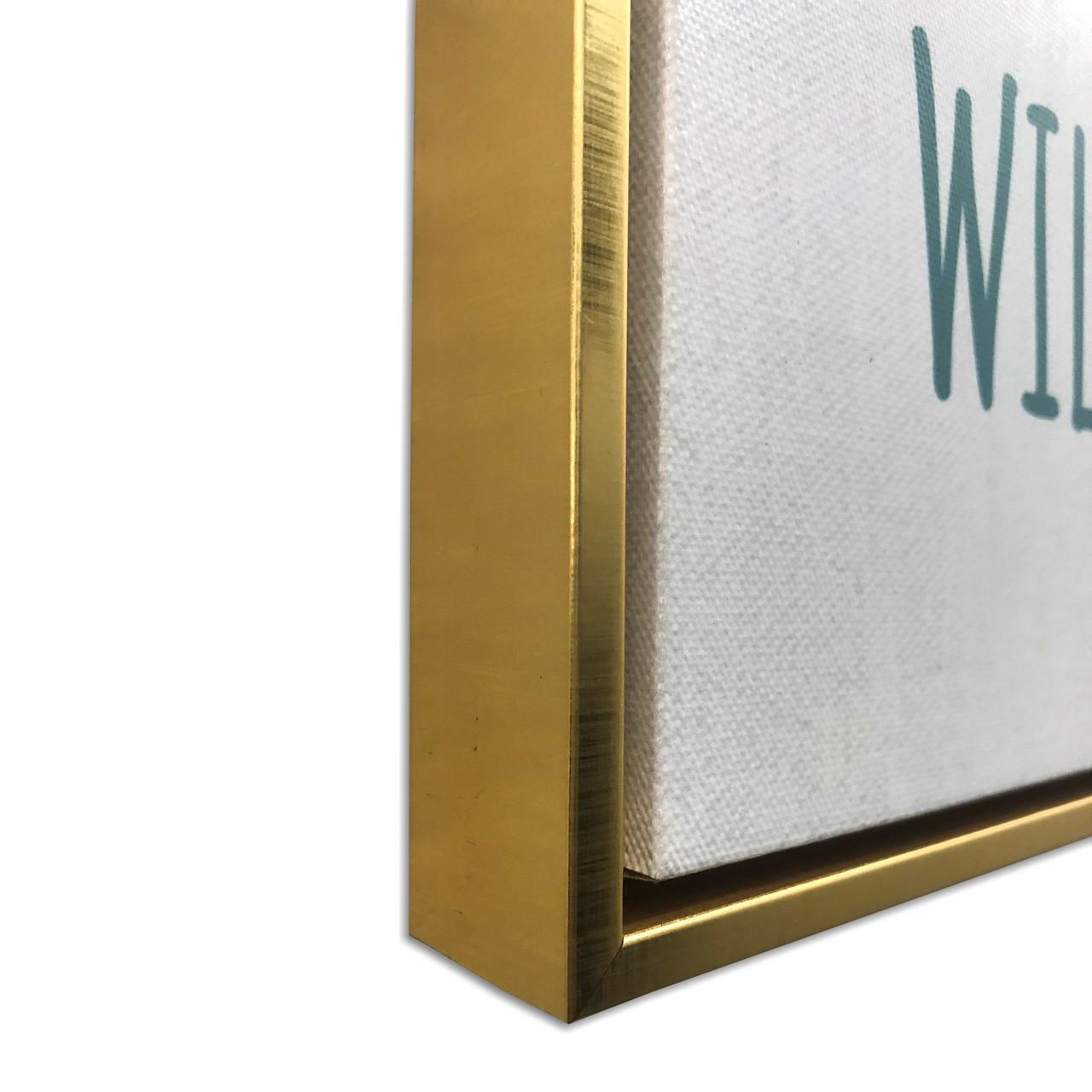 Quadro Decor Kit Coleção Folhagens Brancas sobre Azul