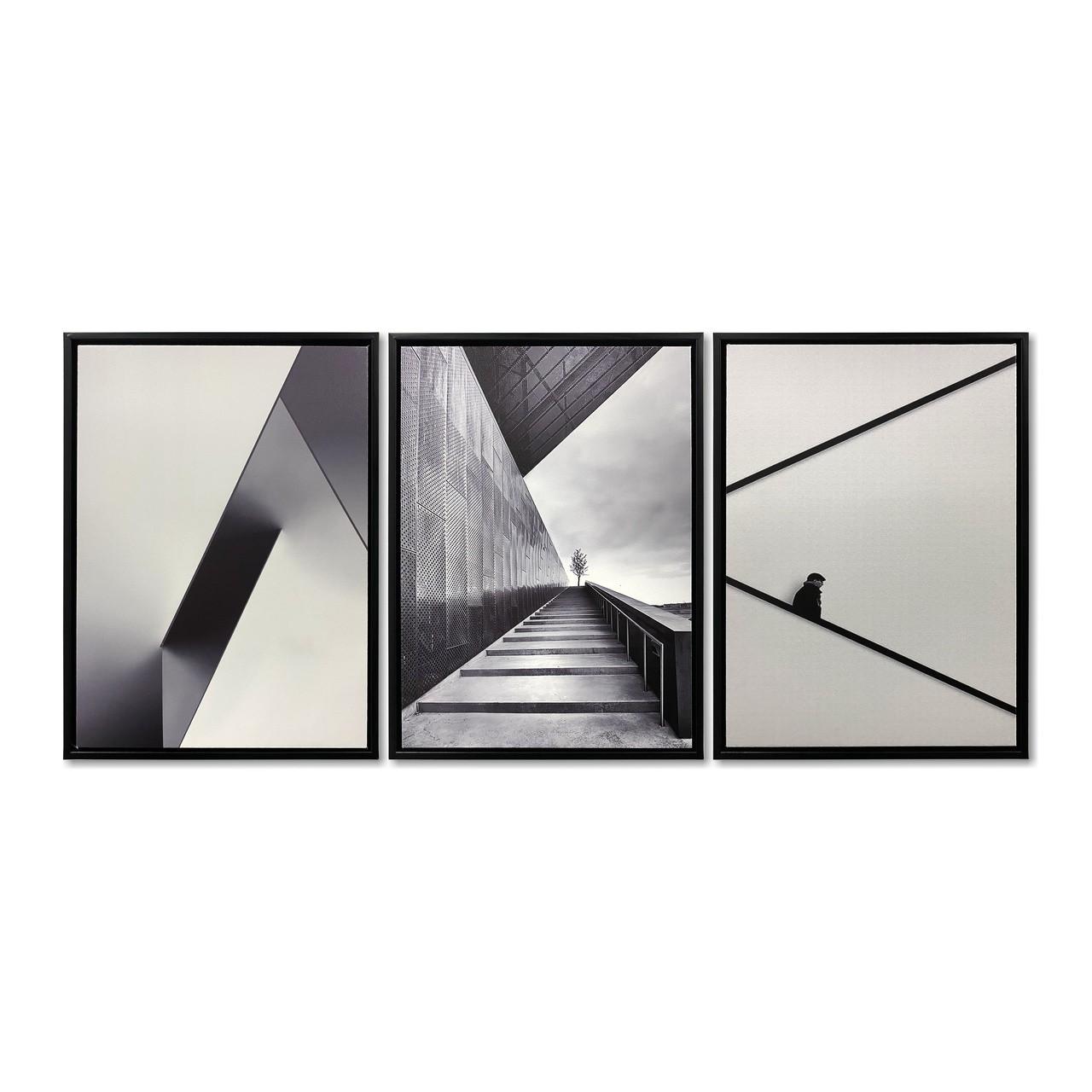 Quadro Decor Kit Coleção Perspectiva em Linhas Construtivas