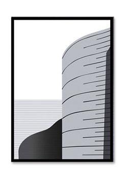 Quadro Decor Kit Escalas de Cinza C