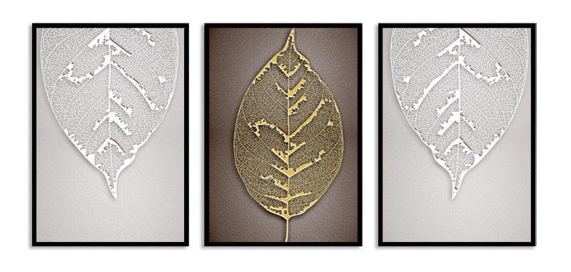 Quadro Decor Kit Retalhos de Folhas