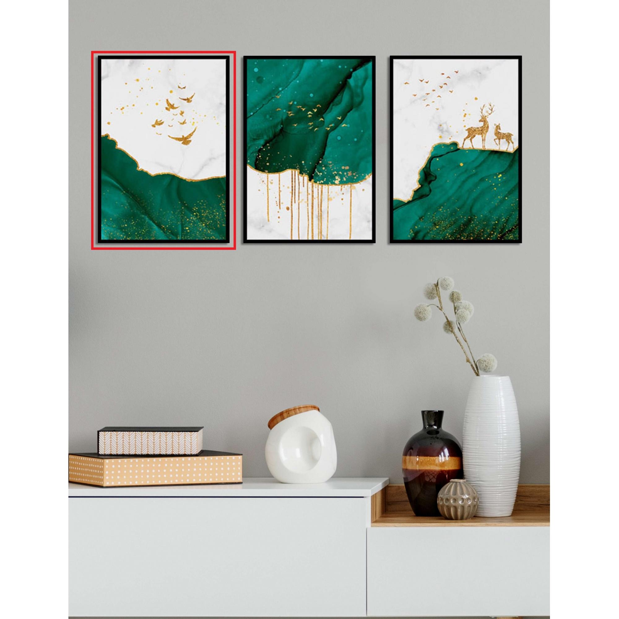 Quadro Decor Kit Verde Líquido A