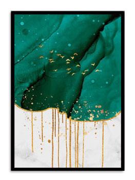 Quadro Decor Kit Verde Líquido B