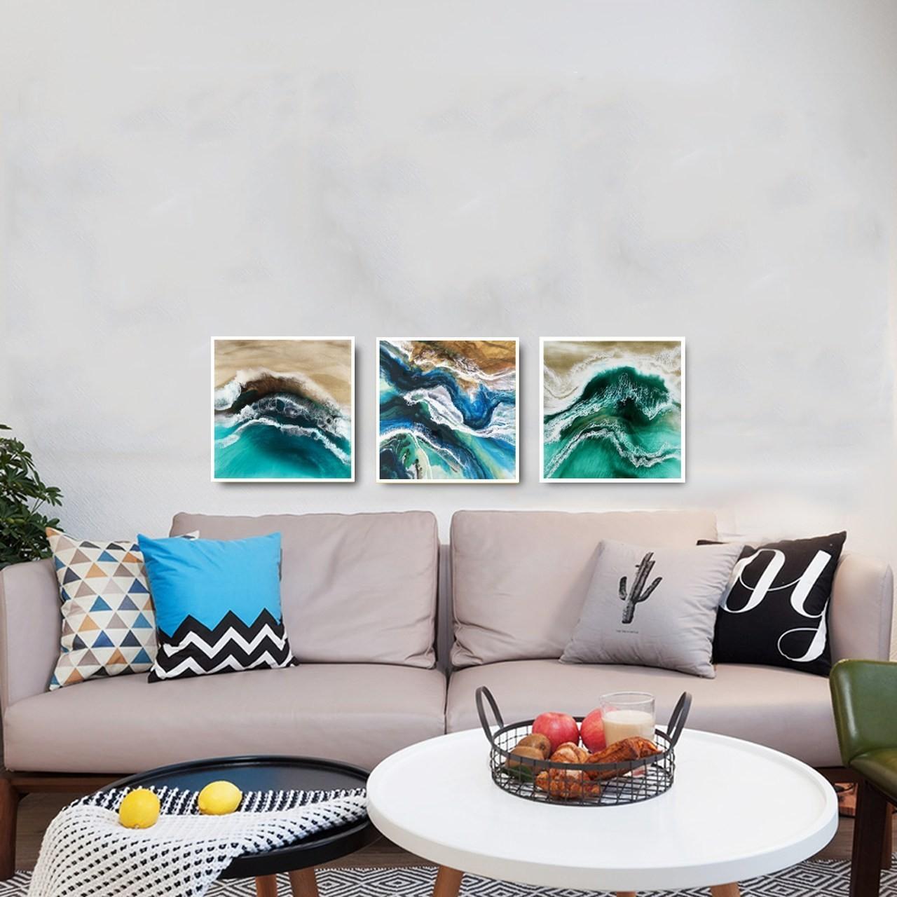 Quadro Decor Mar Abstrato 1