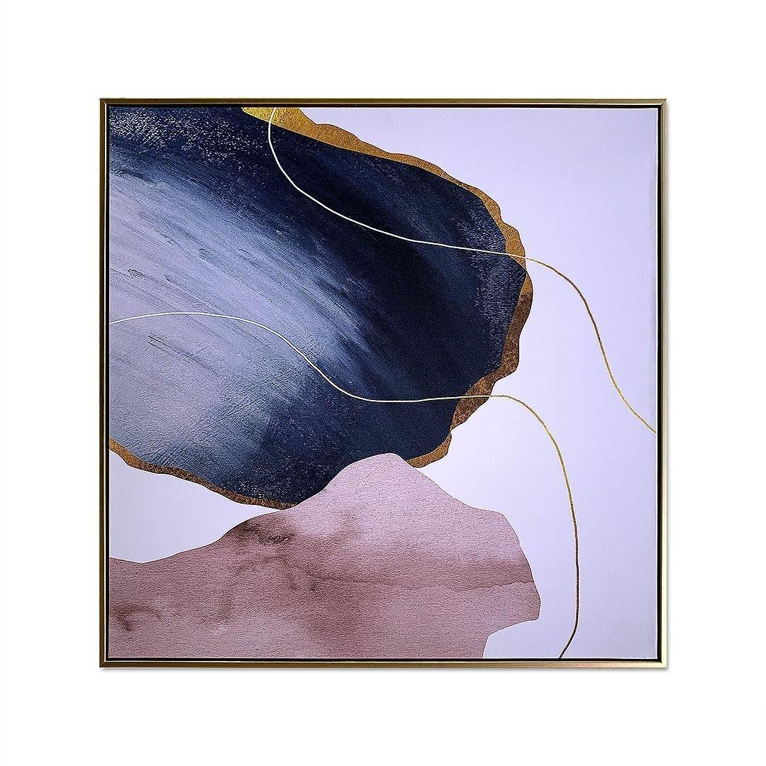 Quadro Decor Mineral Rosê Blue 2