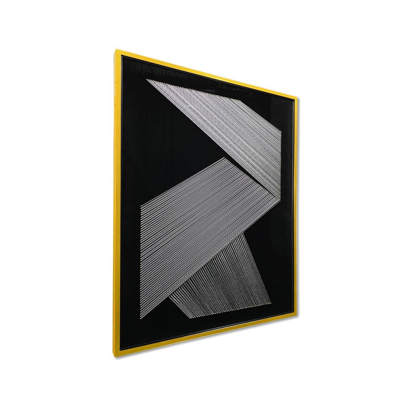 Quadro Decor Origami em Linhas Brancas