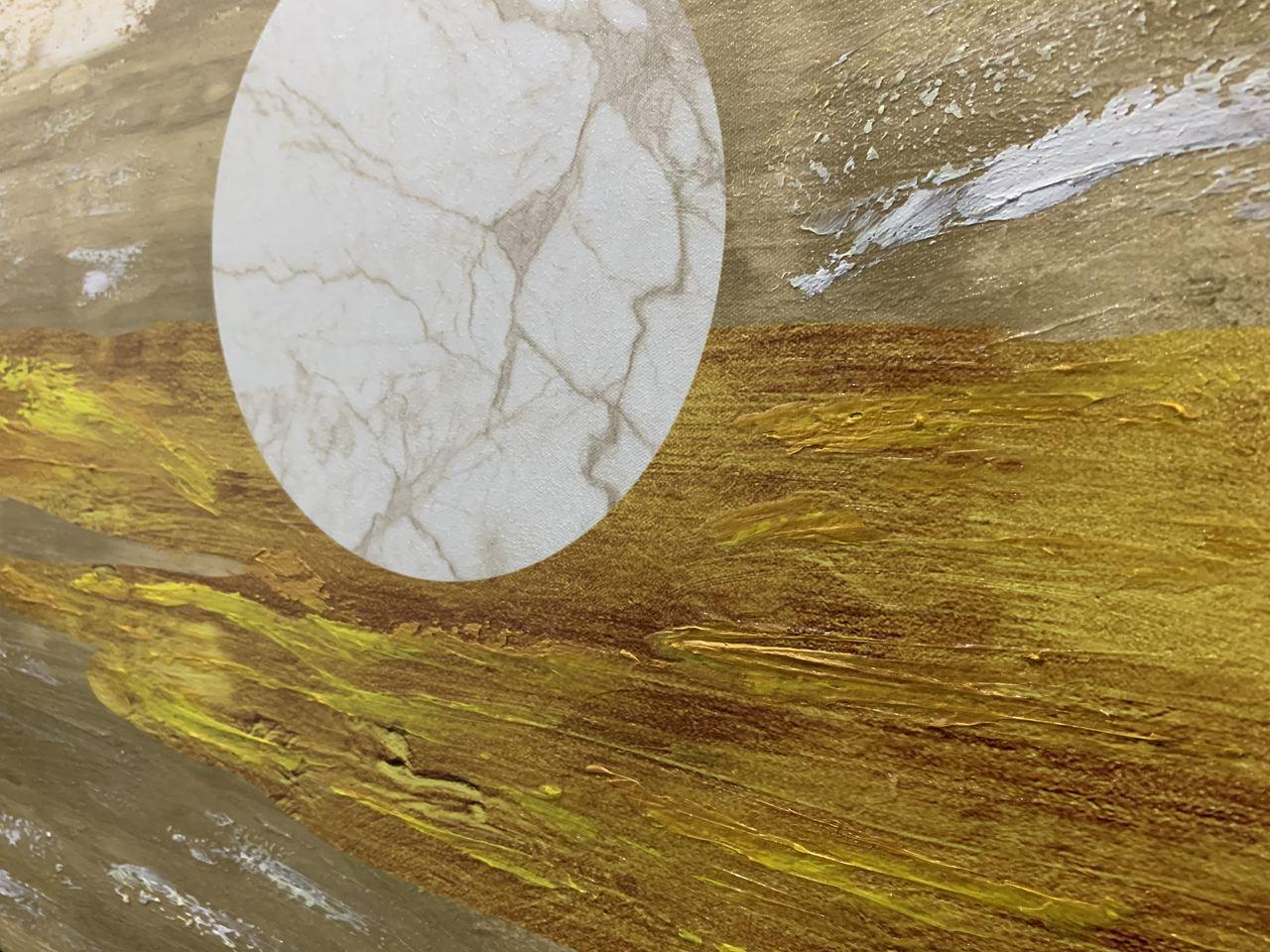 Quadro Decor Pinceladas Douradas