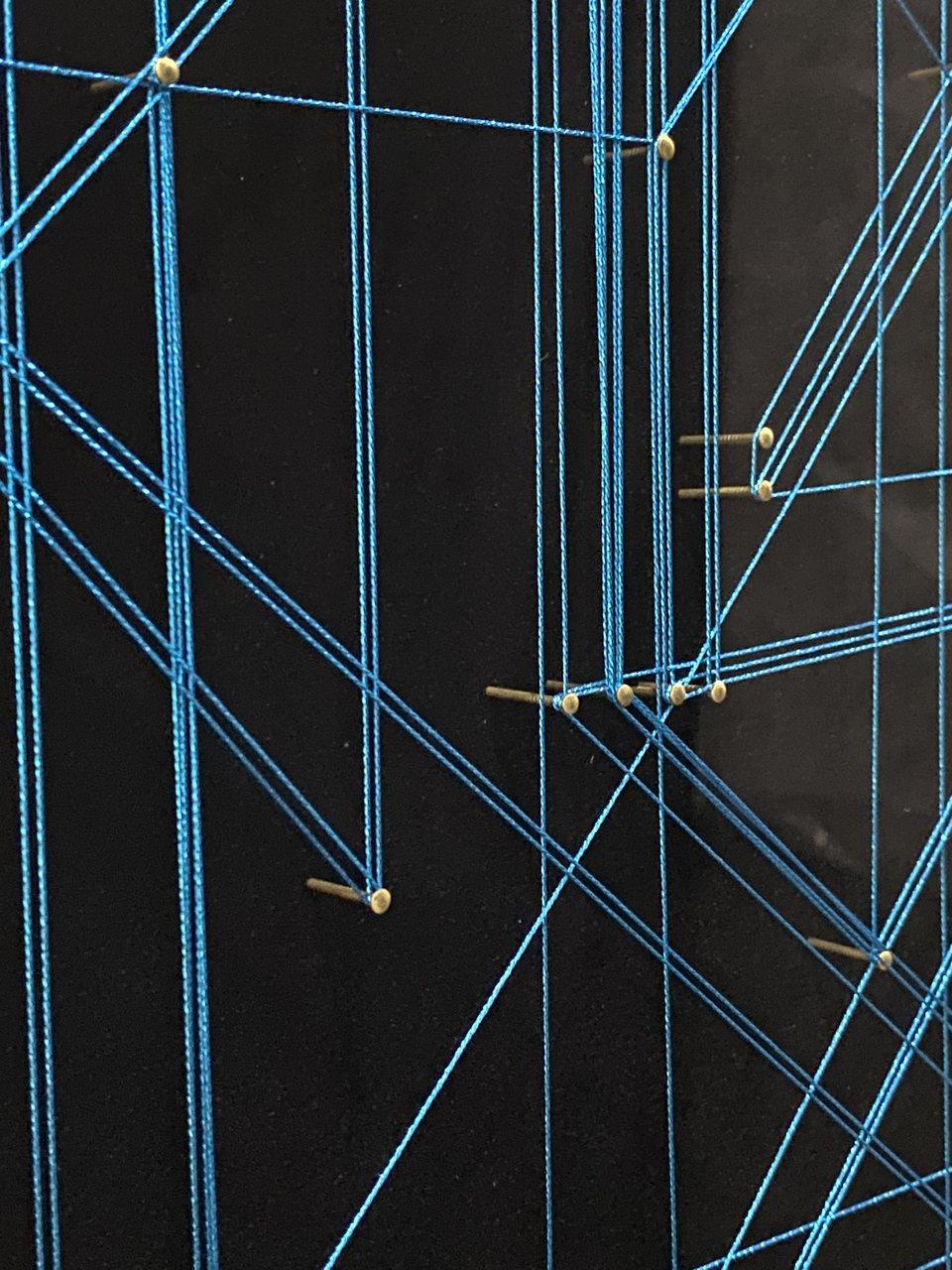 Quadro Decor Rabiscos em Linhas Azul