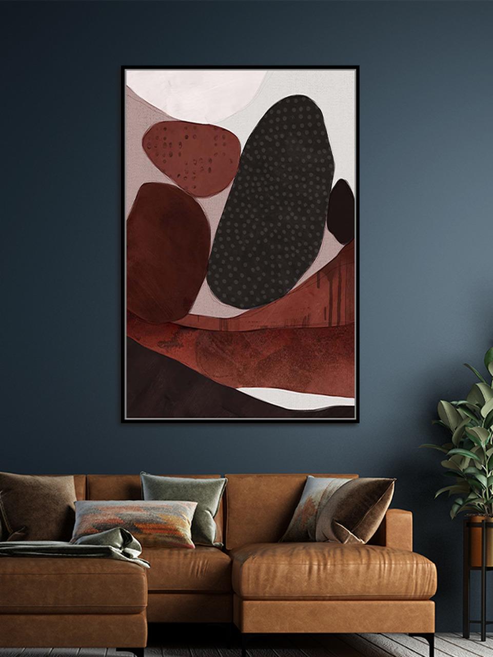 Quadro Decor Tons e Borrões Abstratos