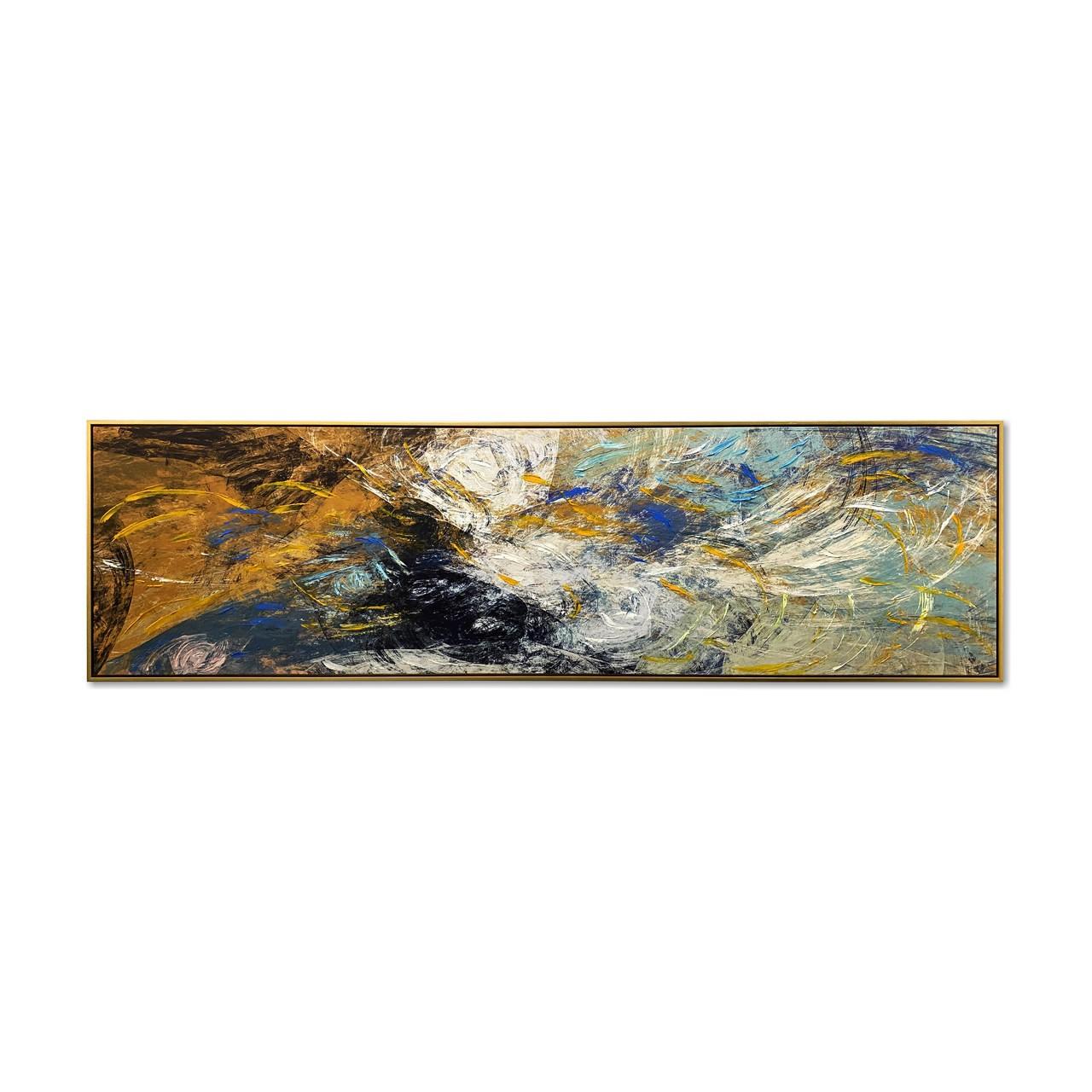 Quadro Decor Coleção Abstrato Tons Azuis 2