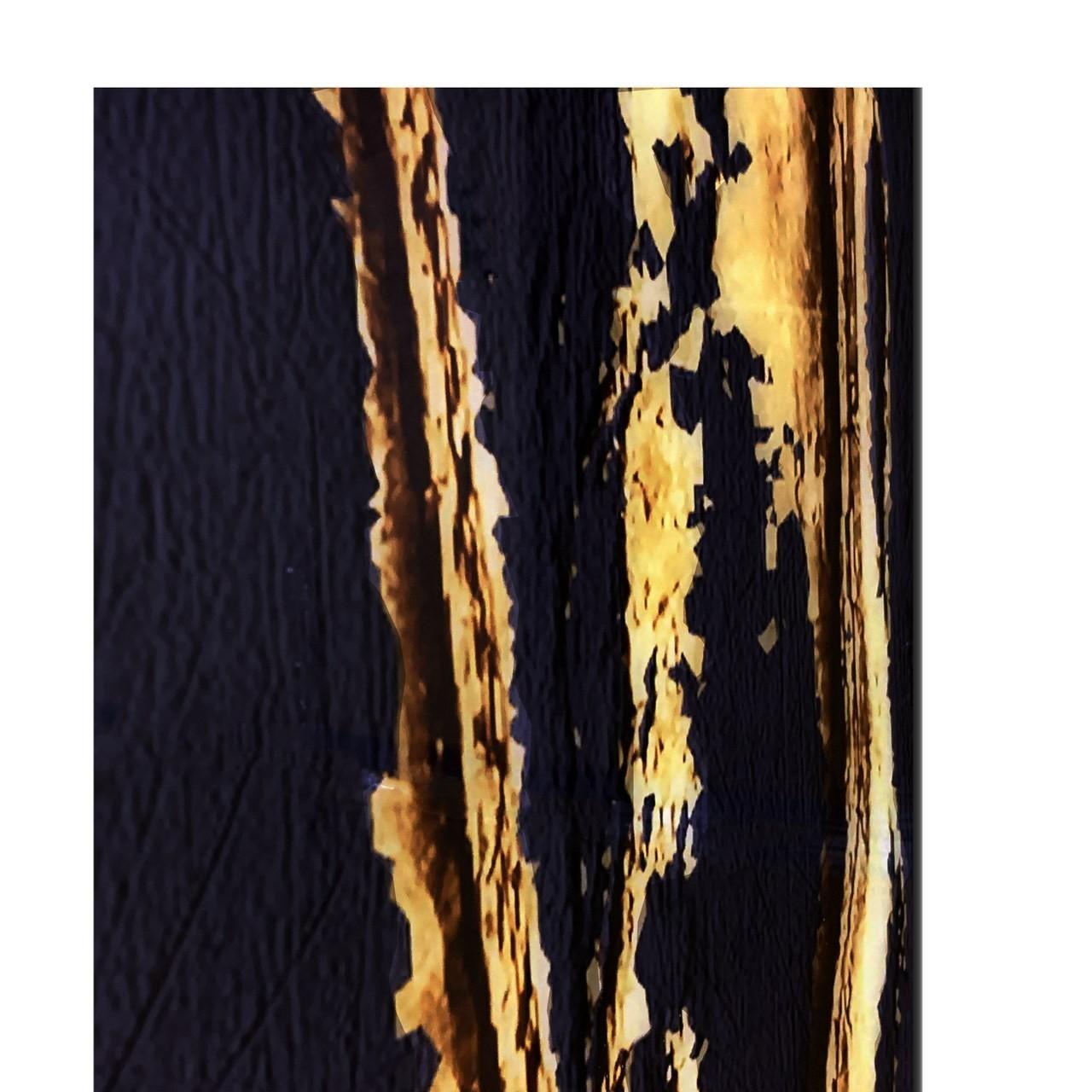 Quadro Decor Veios Dourados Sobre Preto