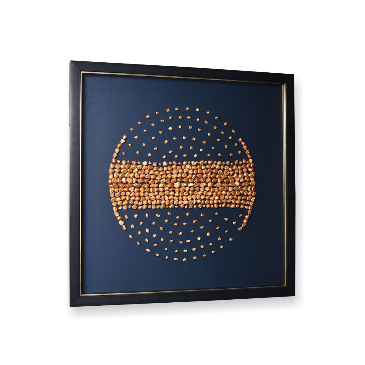 Quadro Decor Pedras Ouro 3D