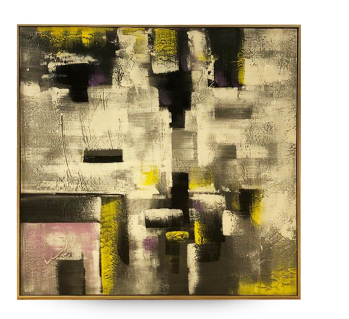 Quadro Quadro Decor Abstrato 4 Tons