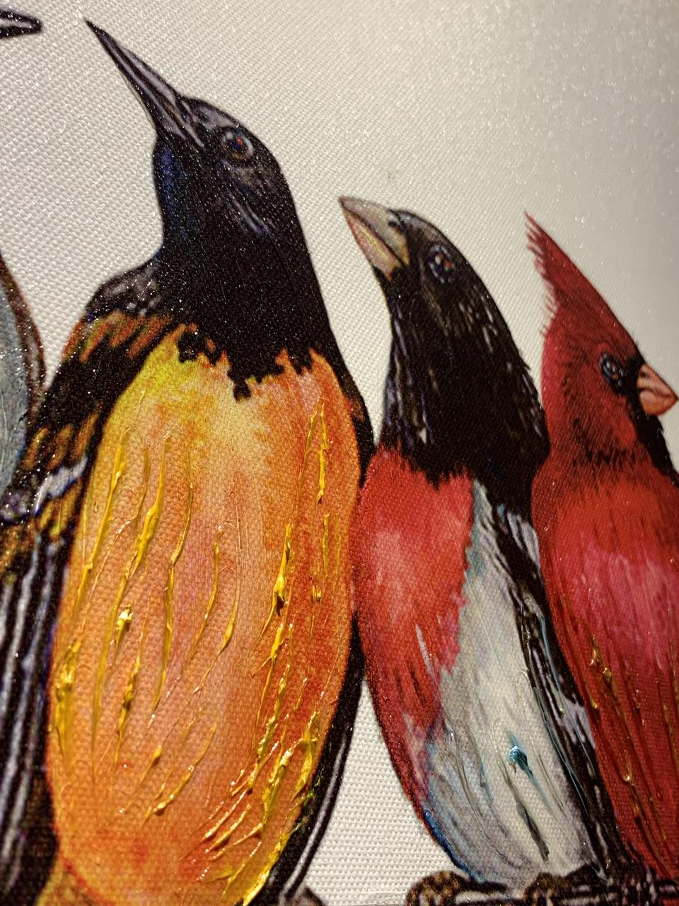 Quadro Decor Tela Pássaros