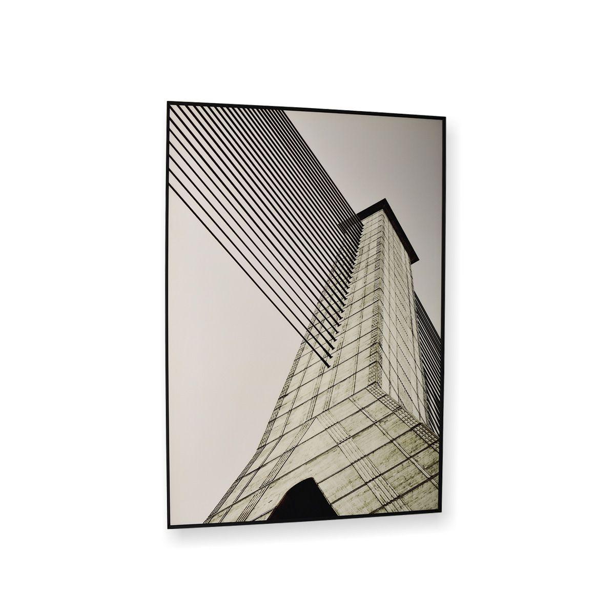 Quadro Decor Torres Linhas Geometricas 1